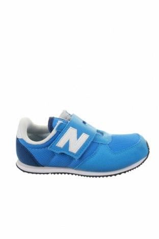 Детски обувки New Balance, Размер 27, Цвят Син, Еко кожа, текстил, Цена 53,40лв.