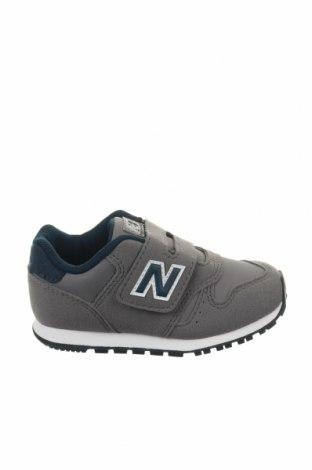 Παιδικά παπούτσια New Balance, Μέγεθος 25, Χρώμα Γκρί, Δερματίνη, Τιμή 34,41€