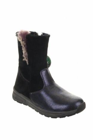 Παιδικά παπούτσια Pio, Μέγεθος 33, Χρώμα Μαύρο, Φυσικό σουέτ, δερματίνη, Τιμή 36,54€