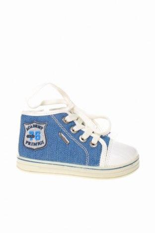 Детски обувки Primigi, Размер 20, Цвят Син, Текстил, еко кожа, Цена 31,85лв.