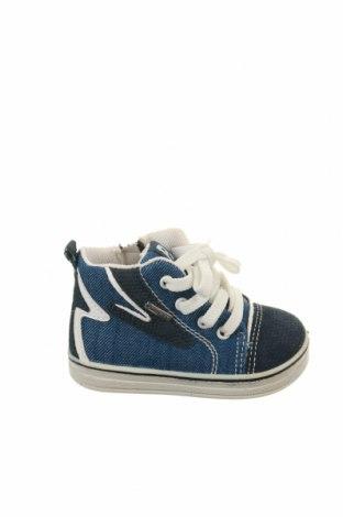 Детски обувки Primigi, Размер 19, Цвят Син, Текстил, еко кожа, Цена 31,85лв.