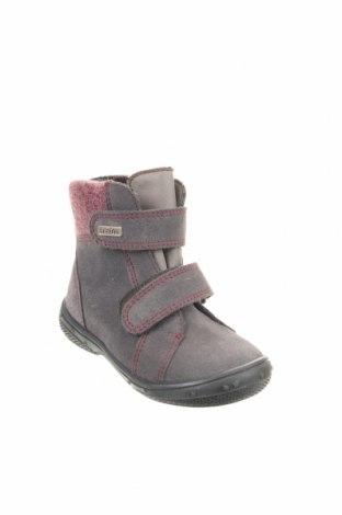 Παιδικά παπούτσια Richter, Μέγεθος 23, Χρώμα Γκρί, Φυσικό σουέτ, κλωστοϋφαντουργικά προϊόντα, Τιμή 25,23€