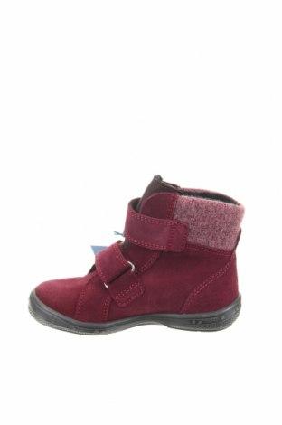 Παιδικά παπούτσια Richter, Μέγεθος 26, Χρώμα Κόκκινο, Φυσικό σουέτ, κλωστοϋφαντουργικά προϊόντα, Τιμή 23,40€
