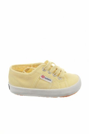 Παιδικά παπούτσια Superga, Μέγεθος 23, Χρώμα Κίτρινο, Κλωστοϋφαντουργικά προϊόντα, Τιμή 15,91€