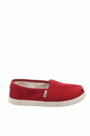 Παιδικά παπούτσια Toms, Μέγεθος 35, Χρώμα Κόκκινο, Κλωστοϋφαντουργικά προϊόντα, Τιμή 13,39€