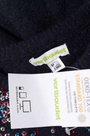 Παιδικό πουλόβερ Vertbaudet, Μέγεθος 18-24m/ 86-98 εκ., Χρώμα Μπλέ, 69%ακρυλικό, 28% πολυεστέρας, 3% ελαστάνη, Τιμή 18,95€