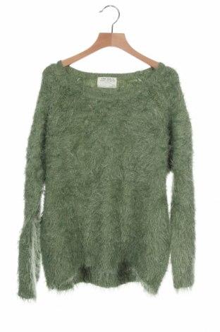 Παιδικό πουλόβερ Zara, Μέγεθος 13-14y/ 164-168 εκ., Χρώμα Πράσινο, 69% πολυαμίδη, 31%ακρυλικό, Τιμή 22,21€