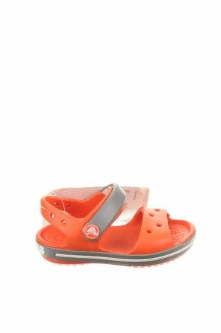 Παιδικά σανδάλια Crocs, Μέγεθος 19, Χρώμα Πορτοκαλί, Πολυουρεθάνης, Τιμή 24,33€