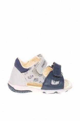 Детски сандали Geox, Размер 20, Цвят Сив, Еко кожа, текстил, Цена 35,60лв.