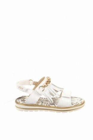Детски сандали Primigi, Размер 27, Цвят Бял, Естествена кожа, еко кожа, Цена 62,39лв.