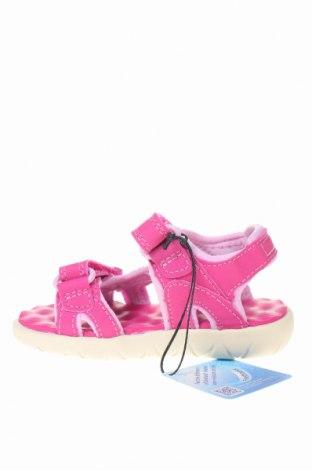 Παιδικά σανδάλια Timberland, Μέγεθος 22, Χρώμα Ρόζ , Κλωστοϋφαντουργικά προϊόντα, Τιμή 22,94€