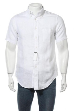 Мъжка риза Brooks Brothers, Размер S, Цвят Бял, Лен, Цена 58,00лв.
