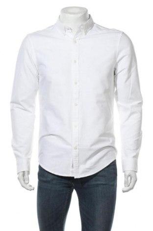 Мъжка риза Pull&Bear, Размер M, Цвят Бял, 100% памук, Цена 30,66лв.