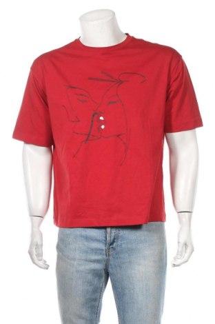 Мъжка тениска Emporio Armani, Размер M, Цвят Червен, Памук, Цена 81,27лв.
