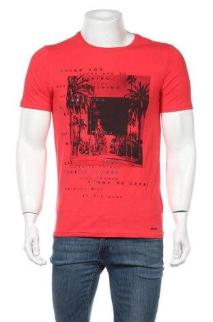 Ανδρικό t-shirt Gaudi, Μέγεθος M, Χρώμα Κόκκινο, 95% βαμβάκι, 5% ελαστάνη, Τιμή 26,47€