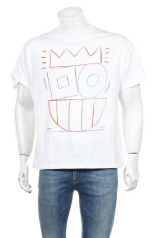 Ανδρικό t-shirt United Colors Of Benetton, Μέγεθος S, Χρώμα Λευκό, Βαμβάκι, Τιμή 8,77€