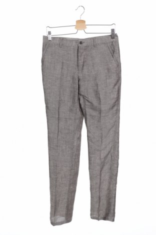 Pantaloni de bărbați Carnet De Vol, Mărime M, Culoare Gri, 54% viscoză, 46% in, Preț 73,19 Lei