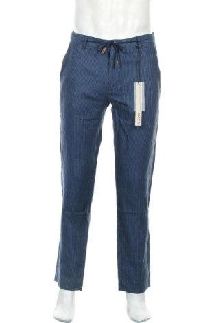 Ανδρικό παντελόνι Gaudi, Μέγεθος M, Χρώμα Μπλέ, Λινό, Τιμή 39,20€