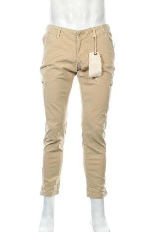 Мъжки панталон Lucky Brand, Размер M, Цвят Бежов, 98% памук, 2% еластан, Цена 39,59лв.