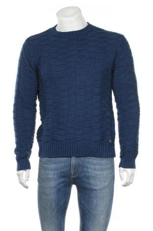 Ανδρικό πουλόβερ Gant, Μέγεθος M, Χρώμα Μπλέ, Βαμβάκι, Τιμή 14,31€
