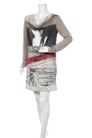 Φόρεμα Rick Cardona, Μέγεθος M, Χρώμα  Μπέζ, 60% βισκόζη, 35% πολυεστέρας, 5% ελαστάνη, Τιμή 14,91€