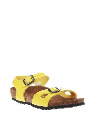Σανδάλια Birkenstock, Μέγεθος 30, Χρώμα Κίτρινο, Δερματίνη, Τιμή 25,23€