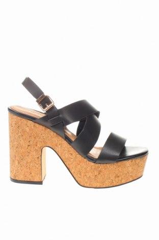 Sandale CAFèNOIR, Mărime 36, Culoare Negru, Piele ecologică, Preț 147,53 Lei