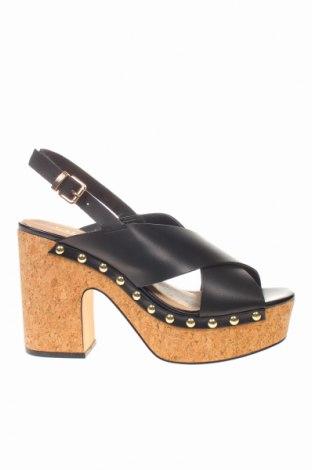 Sandale CAFèNOIR, Mărime 40, Culoare Negru, Piele ecologică, Preț 165,69 Lei