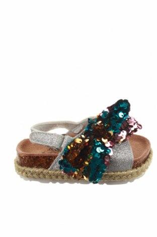 Παιδικά σανδάλια Colors of California, Μέγεθος 21, Χρώμα Ασημί, Δερματίνη, κλωστοϋφαντουργικά προϊόντα, Τιμή 21,44€