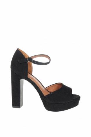 Σανδάλια H&M, Μέγεθος 36, Χρώμα Μαύρο, Κλωστοϋφαντουργικά προϊόντα, Τιμή 22,73€
