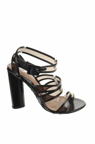 Sandale Missguided, Mărime 39, Culoare Negru, Piele ecologică, Preț 118,02 Lei