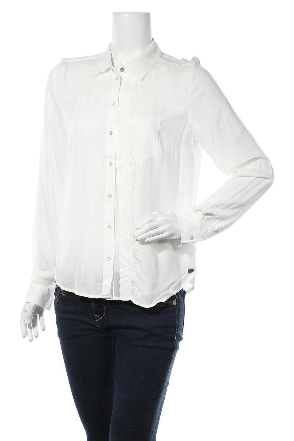 Дамска риза DDP, Размер M, Цвят Бял, Вискоза, Цена 22,25лв.