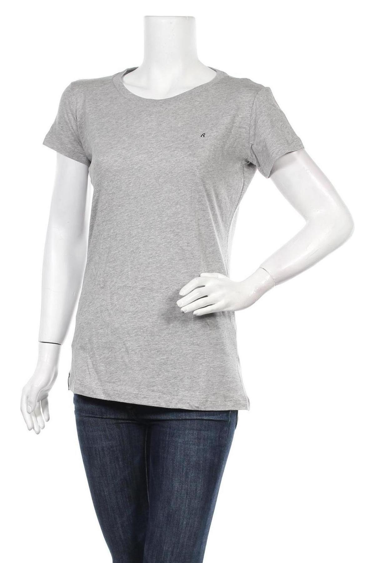 Дамска тениска Replay, Размер L, Цвят Сив, Памук, Цена 55,20лв.