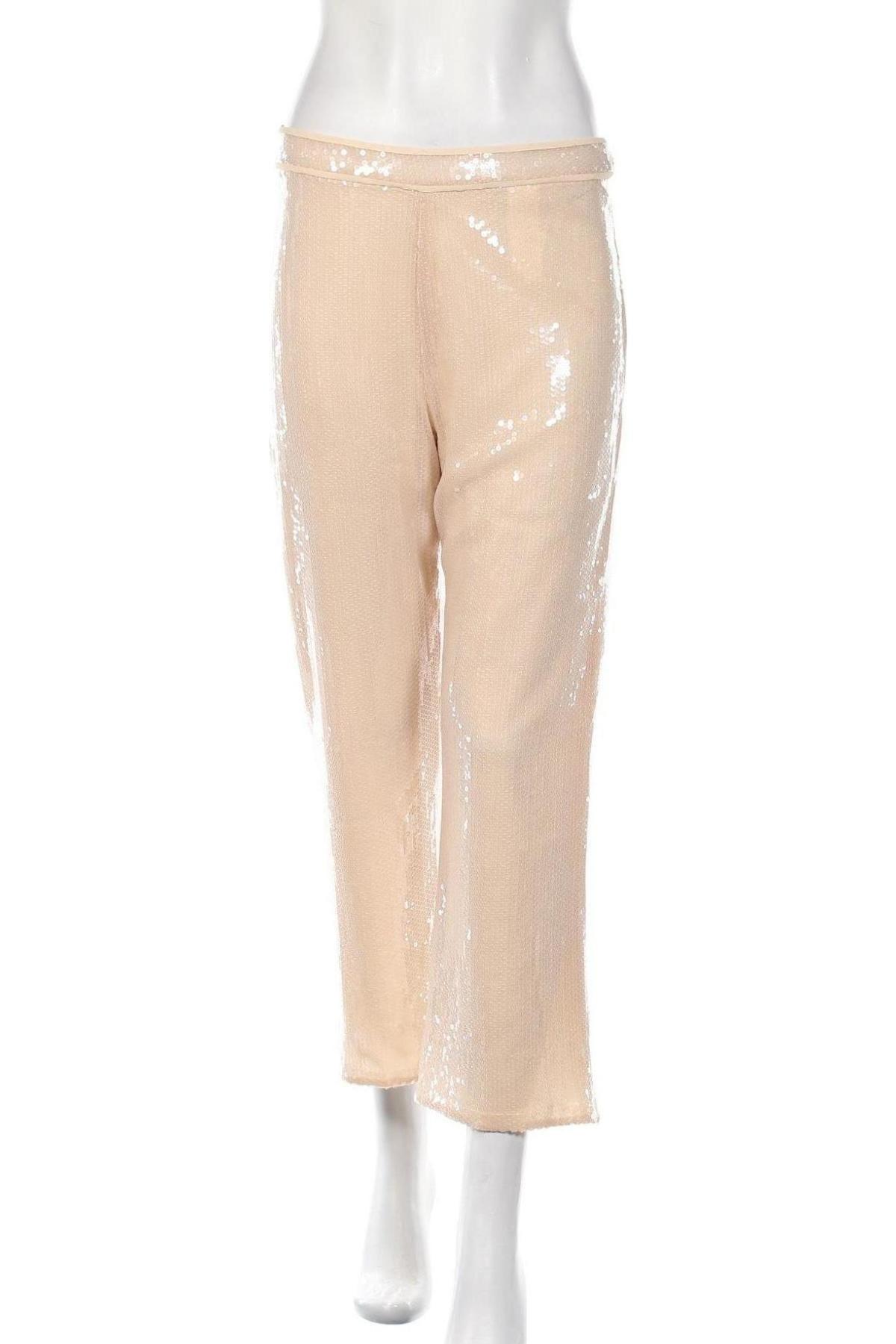 Дамски панталон Stefanel, Размер M, Цвят Бежов, Полиамид, Цена 18,68лв.