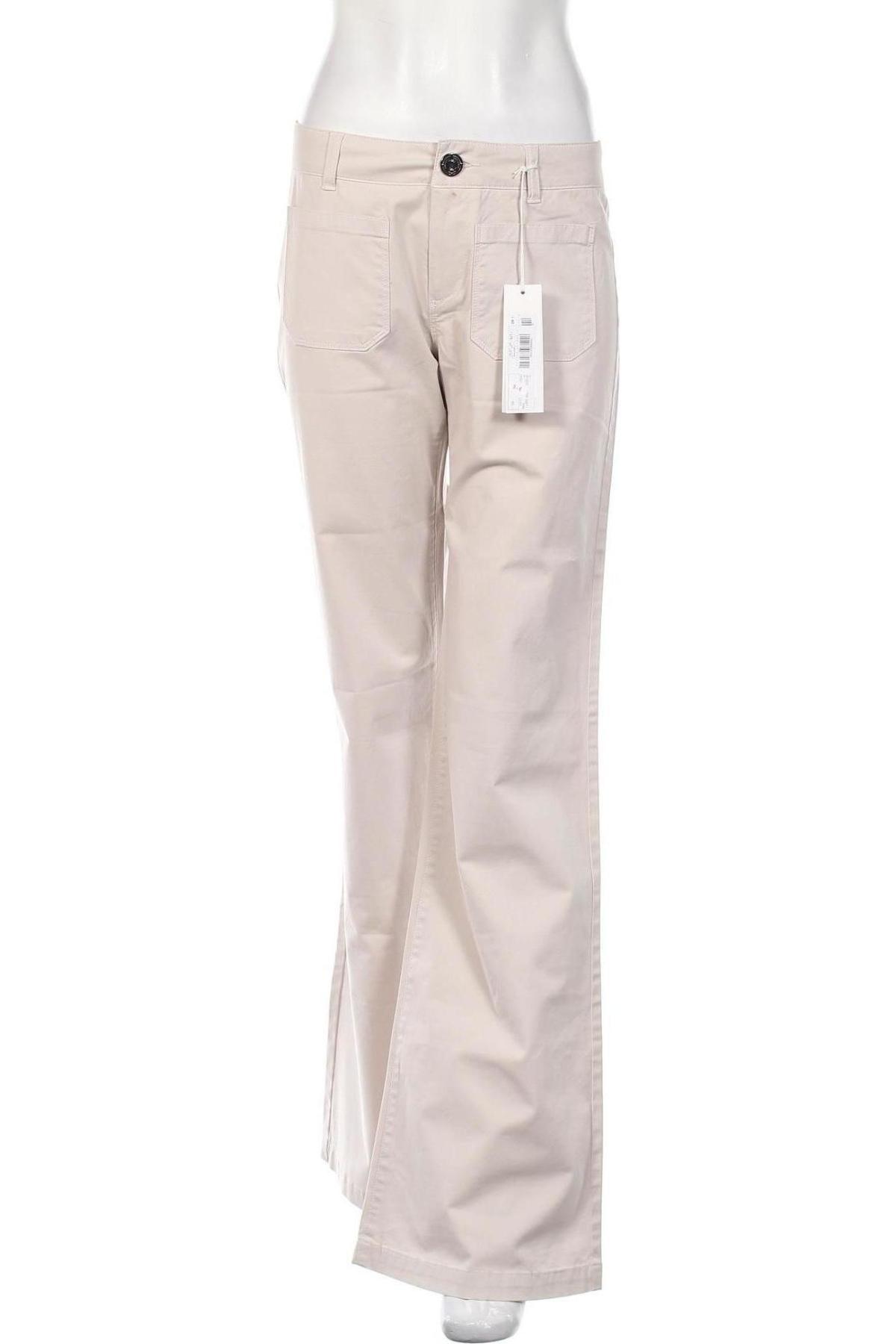 Дамски панталон Stefanel, Размер S, Цвят Бежов, 96% памук, 4% еластан, Цена 29,90лв.