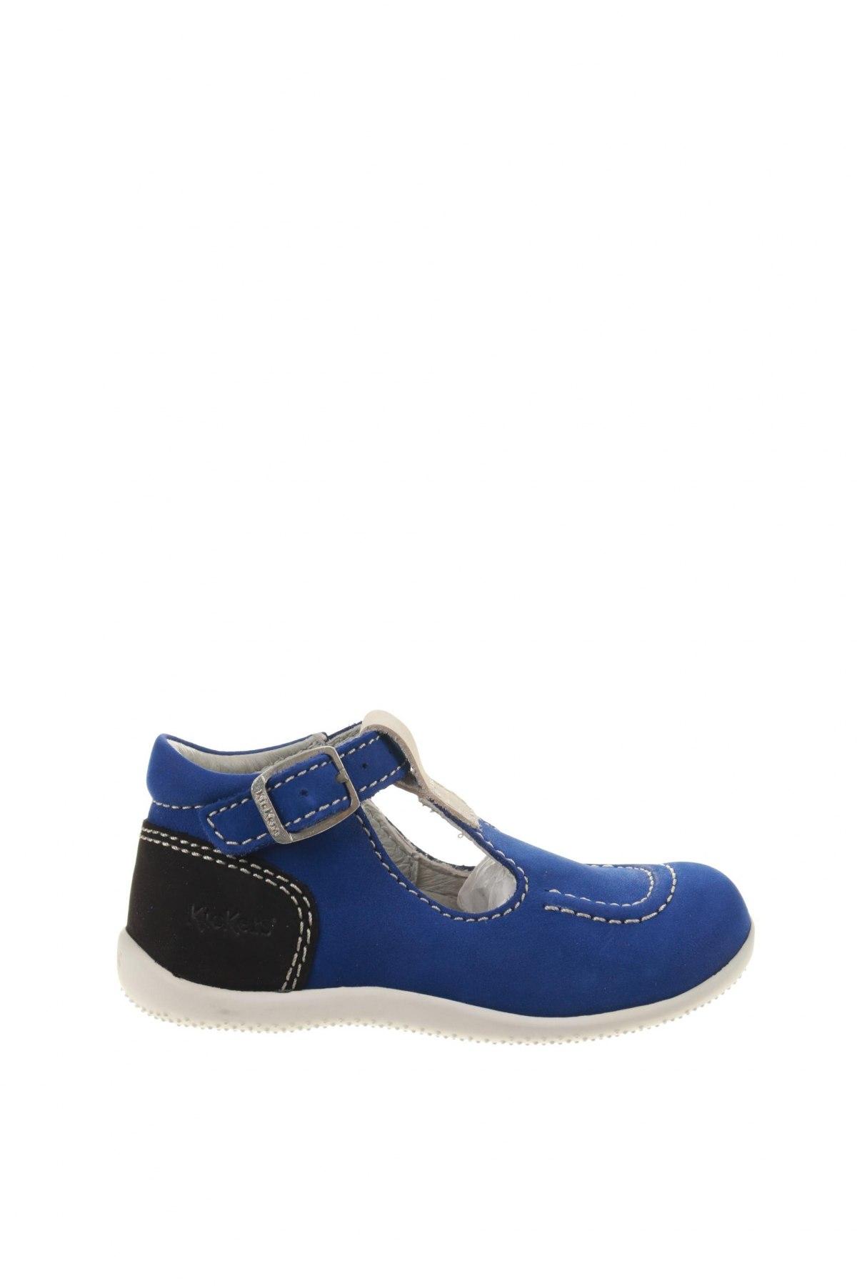 Παιδικά παπούτσια Kickers, Μέγεθος 24, Χρώμα Μπλέ, Γνήσιο δέρμα, Τιμή 16,29€