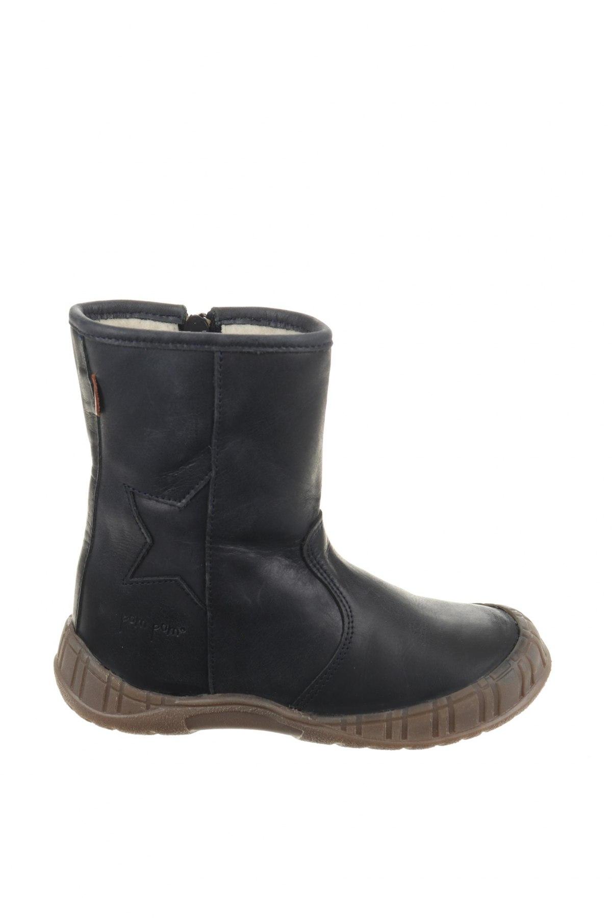 Παιδικά παπούτσια Pom Pom, Μέγεθος 28, Χρώμα Μπλέ, Γνήσιο δέρμα, Τιμή 39,41€