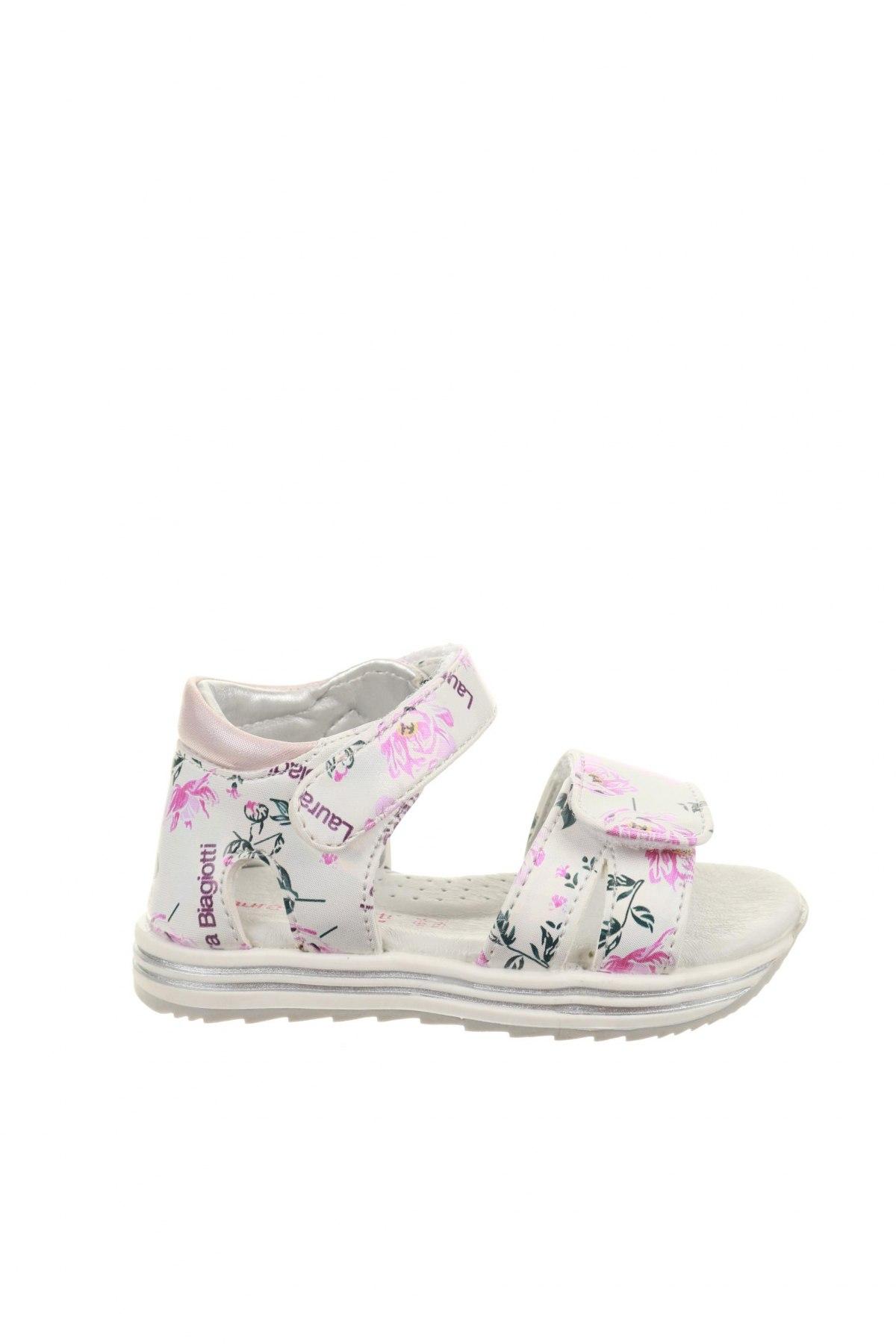 Детски сандали Laura Biagiotti, Размер 22, Цвят Многоцветен, Текстил, Цена 23,80лв.