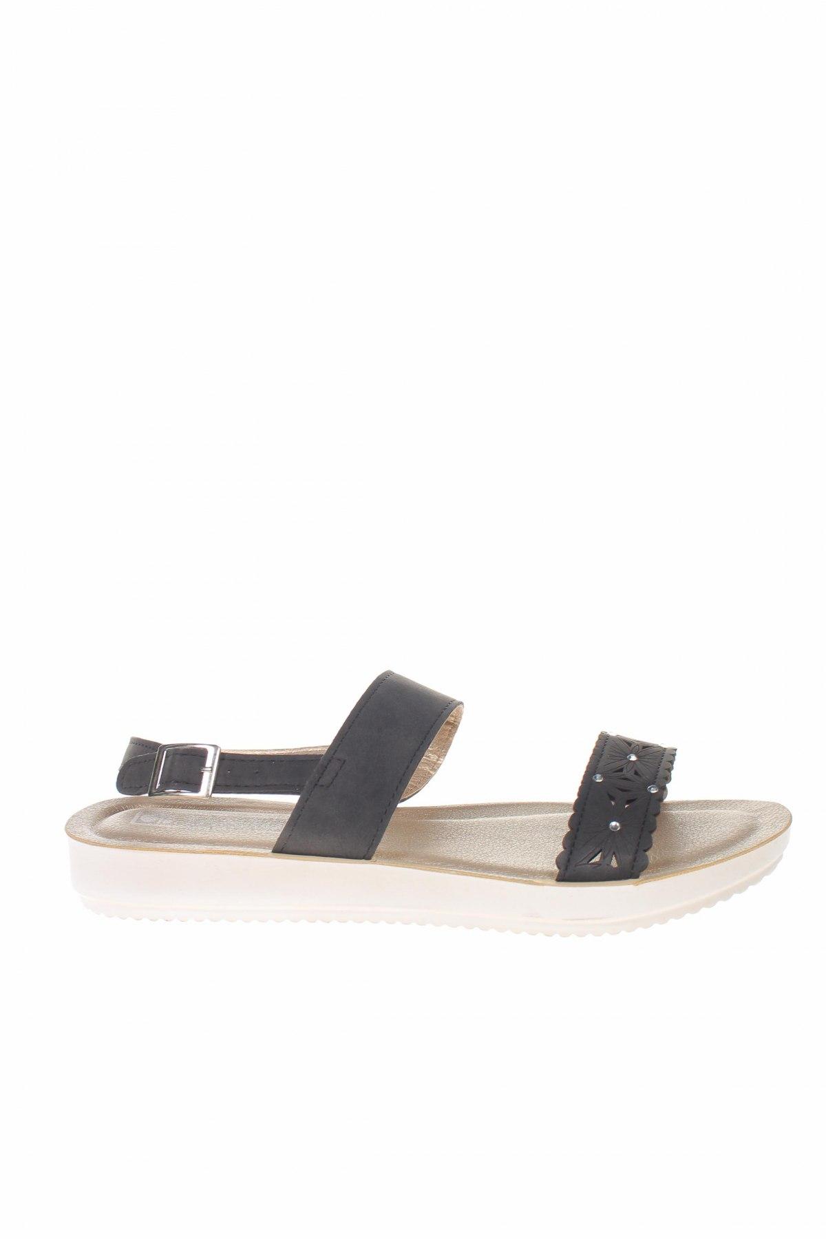 Σανδάλια Inblu, Μέγεθος 39, Χρώμα Μαύρο, Δερματίνη, Τιμή 17,07€